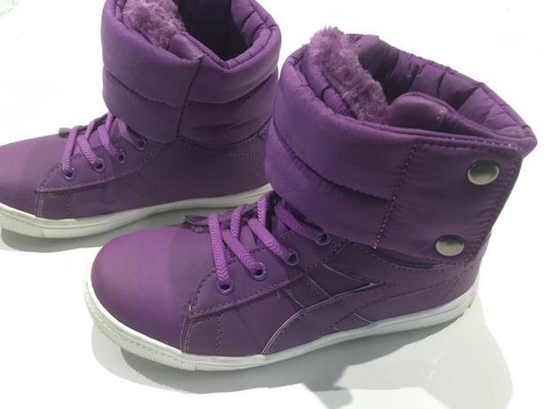 Buty zimowe ocieplane, dla dziewczynki, rozmiar 34