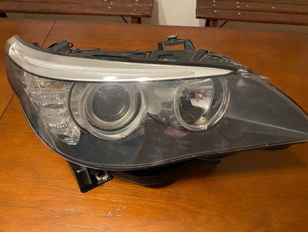 Lampa Przód Przednia Prawa BMW E60 Lift Zwykła Soczewka