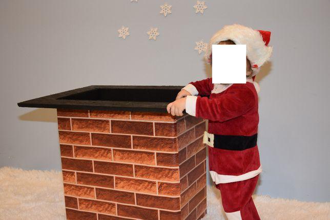 Komin do sesji fotograficznej / zdjęciowej święta rekwizyt Mikołaj