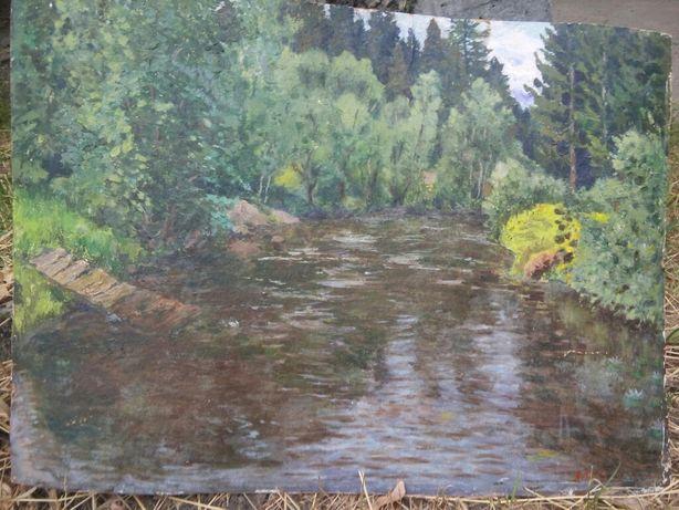 картина маслом Якова Голубева.его картины есть в музеях