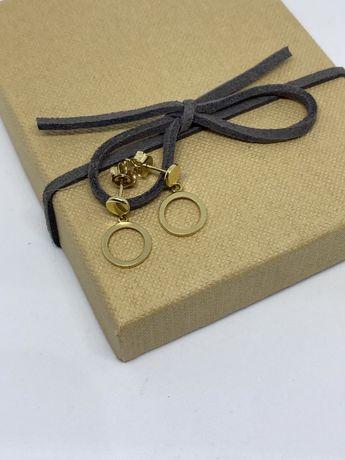 ** Złote kolczyki 1,36 gram , p.585-Lombard Stówka**