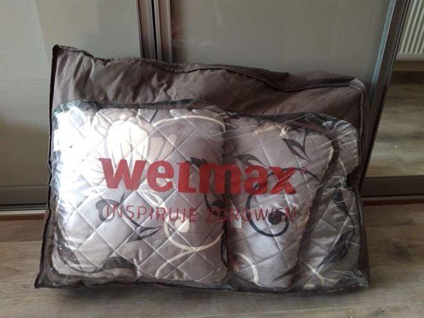 Welmax zestaw kołdry z poduszkami wełna