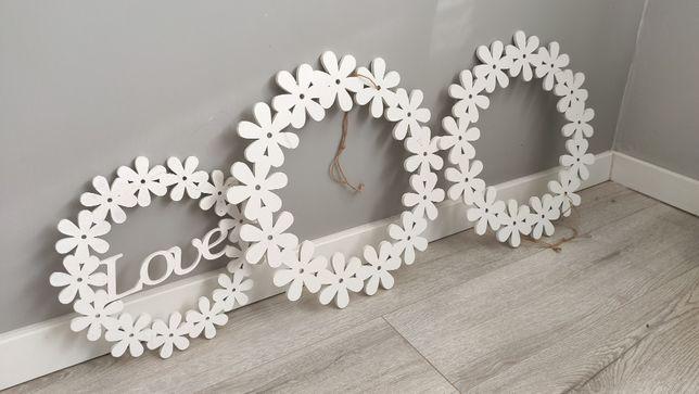 Dekoracja ślubna, koła, obręcze, drewno, rustykalne