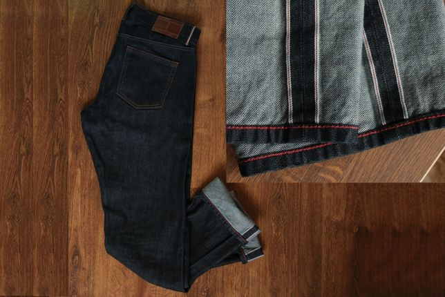 Tommy Hilfiger Mens Selvedge Denim Straight Leg Jeans