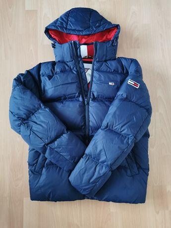 Męska zimowa puchowa kurtka Tommy Hilfiger rozmiar S