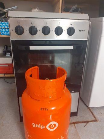 Fogão com forno+botija de gás