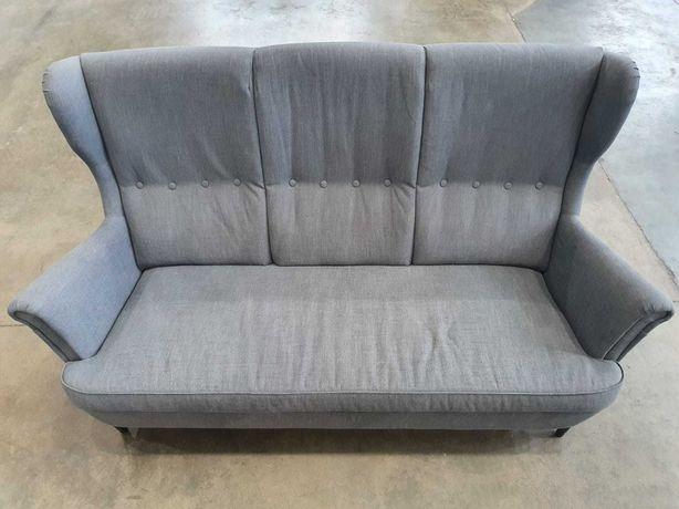 Sofa STRANDMON Ikea 3-os., szara, czysta, sprawna