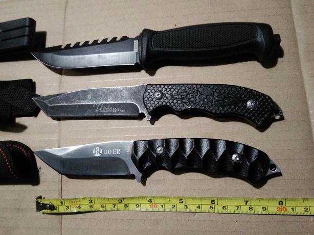 Trzy noże taktyczne full-tang