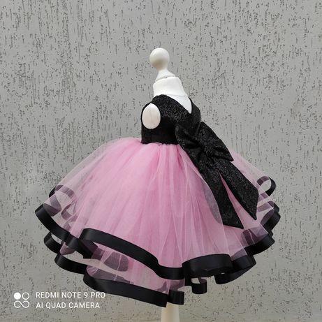 Пышное платье с фатина и пайеток на первый день рождения на 1 3 5