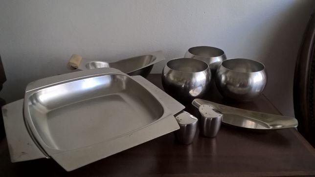 Lote de utensílios em inox (14 peças). Algumas peças NUNCA USADAS