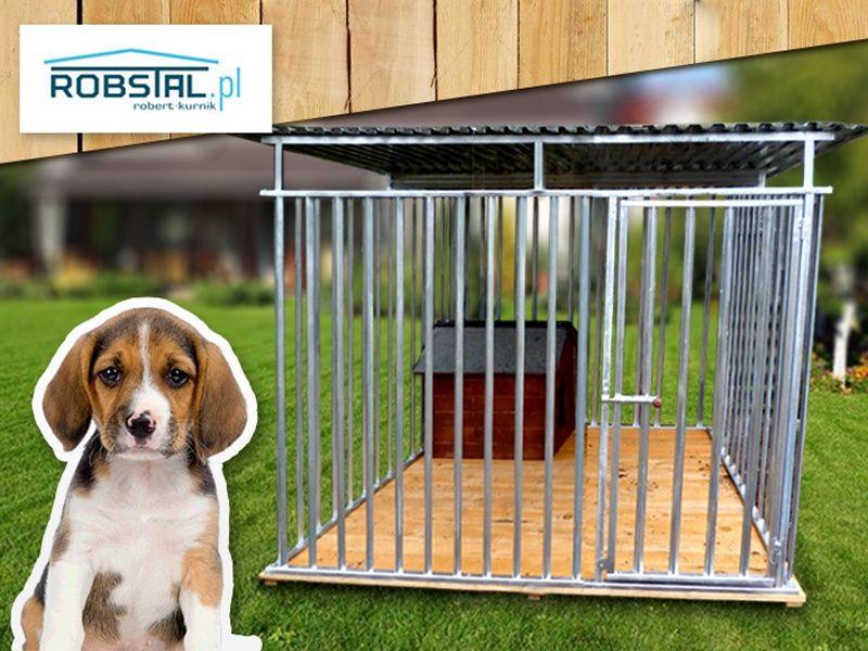 Kojec dla psa 2x2 MAJA z podłogą i uchwytem na miski PRODUCENT Gdańsk - image 1
