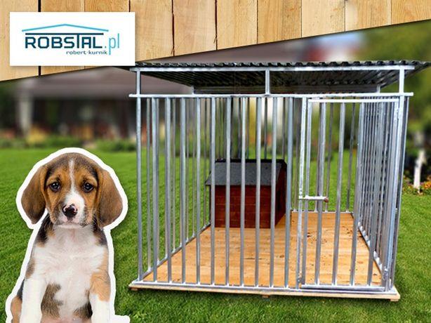 Kojec dla psa 2x2 MAJA z podłogą i uchwytem na miski PRODUCENT