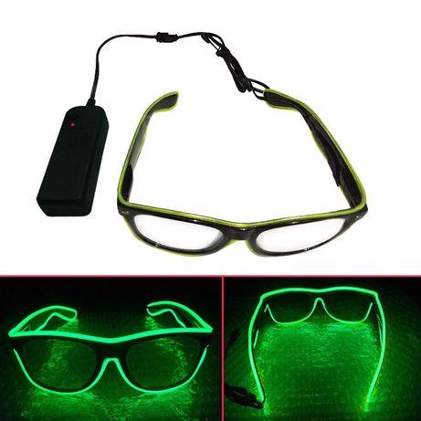 Okulary z podświetleniem Led, Neon !!!