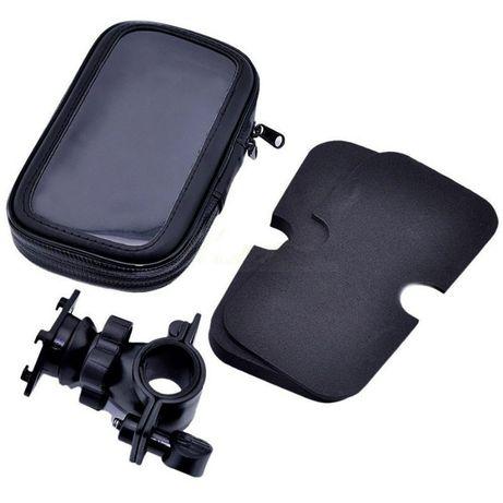 Bolsa Impermeável + Suporte Telemóvel para Moto/Bicicleta