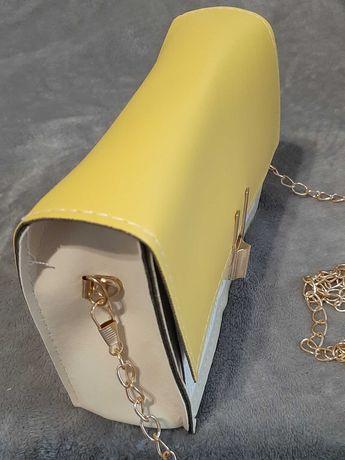 Torebka mała beż/żółty