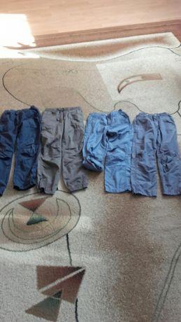 Spodnie cienkie h&M rozm 128 roll-up podpinane
