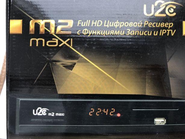 Спутниковый ресивер U2C m2 Maxi , приставка , антена !