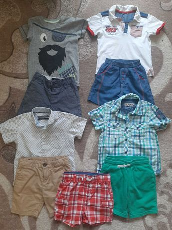 Футболочка, шорты, рубашка лето, 3-4 года, размер 98, 104