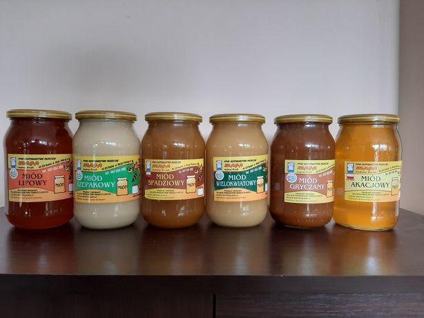 Miód pszczeli rzepakowy lipowy akacjowy gryczany spadziowy wielokwiat