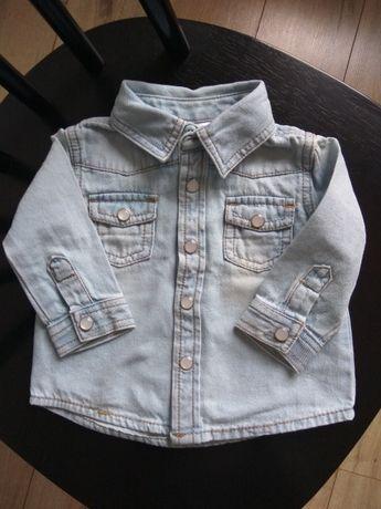 Koszula jeansowa dla dziewczynki F&F 3-6 m-ące