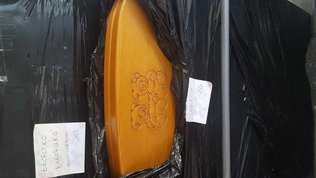 Łóżeczko drewniane z materacem i pościelami