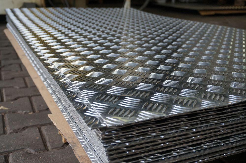 Blacha ryflowana aluminiowa, aluminium 2x1000x2000 mm Toruń - image 1