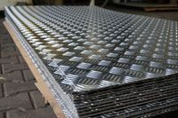 Blacha ryflowana aluminiowa, aluminium 2x1000x2000 mm