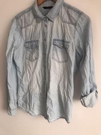 ONLY jeansowa koszula z podwijanymi rekawami M 38