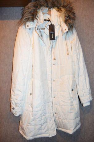 Новая белоснежная женская куртка размер наш 46