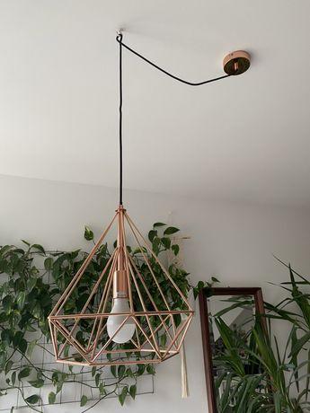 Lampa wisząca miedziana Byron geometryczna industrialna loft 2 sztuki