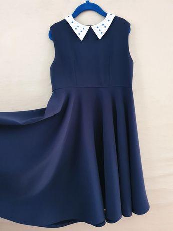 134-140 Шикарное школьное платье Идеальное состояние