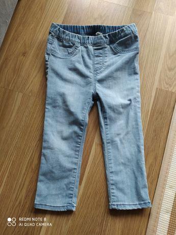Jeansy dżinsy hm h&m 92