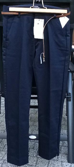 spodnie BERSHKA granatowe, eleganckie NOWE, rozmiar 36, wysyłka Zalasewo - image 1