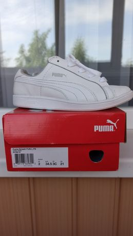 Кеды, кроссовки puma белые 34.5 ,21 см