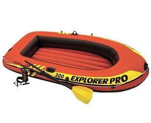 Надувная лодка EXPLORER PRO 300 SET 244Х117Х36 см, ВЕСЛА 59623, НАСОС
