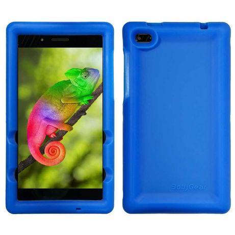 Силиконовый противоударный синий чехол для планшета Lenovo Tab E7