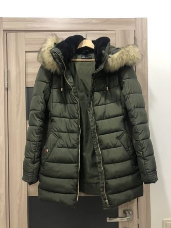Пуховик zara, зимняя куртка