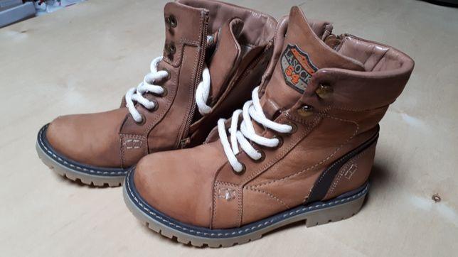 Buty ocieplane dla chłopca LASOCKI ze skóry  rozm. 33 jesień zima