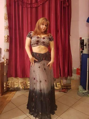 Strój belly dance, spódniczka i bluzka