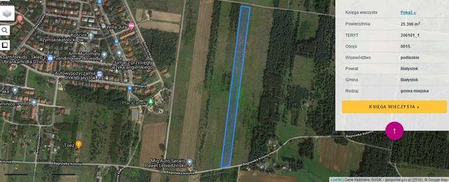 Sprzedam działkę około 2 ha kolonia Bagnówka Białystok 180pln/m2