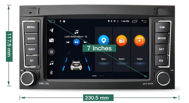 Radio nawigacja VW Volkswagen Touareg Transporter T5 Android 10 BT GPS