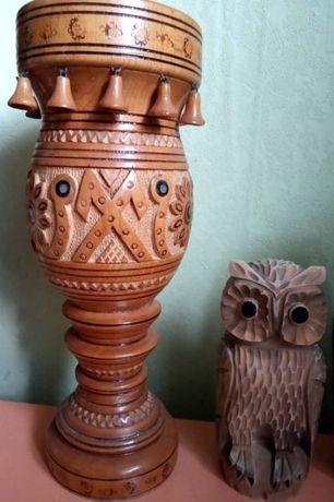 3 Вазы СССР деревянные Вази дерев'яні ручна робота Сувеніри