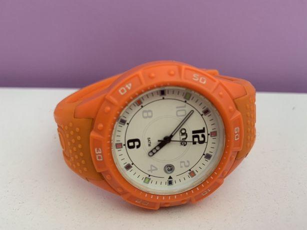 Bracelete laranja relogio one