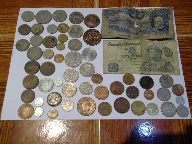 Notas para colecção e moedas em escudos