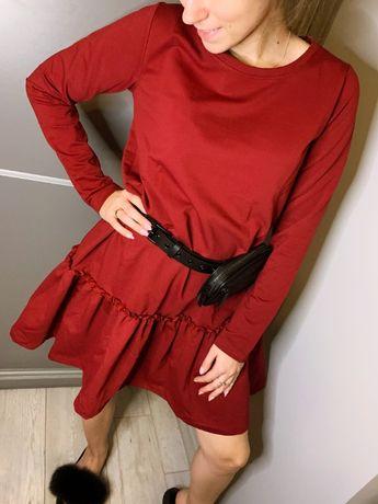 Sukienka z falbanką facebook/polciafashion