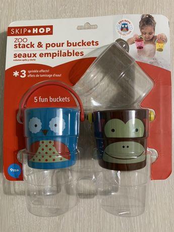 Игрушки для ванной,ведра skip hop 400руб.