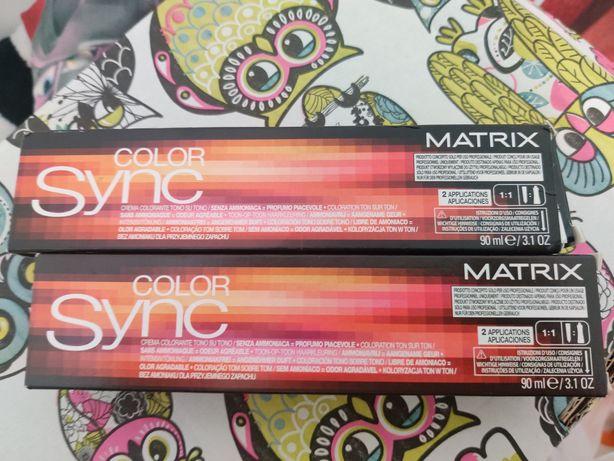 Matrix Color Sync 4A - 4 szt. farba do włosów Średni brąz, popielaty