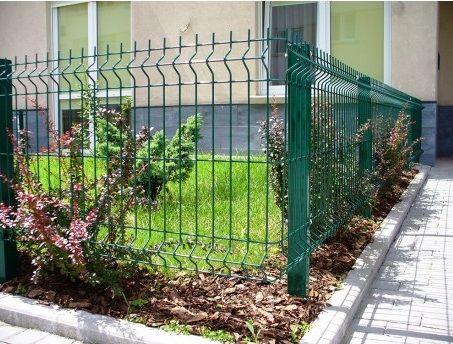Забор из сварной сетки, 3d секции, секционное ограждение, секции с ПВХ