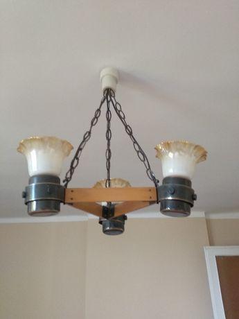 Lampa wisząca 3 żarówki PRL