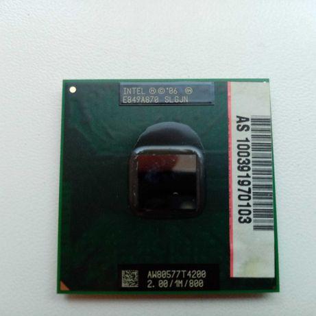 Процессор ноутбука 2 ядра, Intel Pentium T4200 2 GHz.